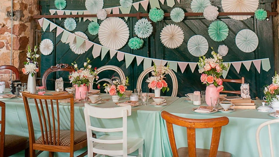 table deco mariage vintage