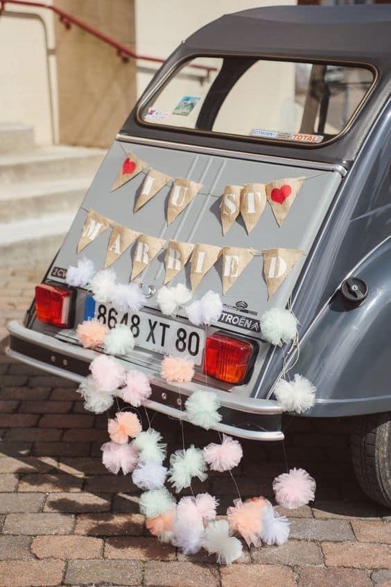 voiture mariage vintage
