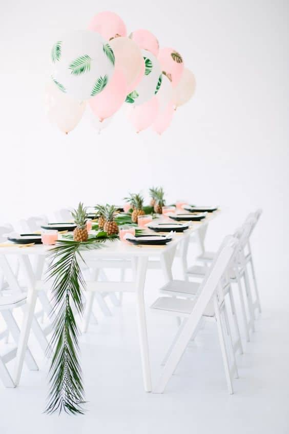 deco de table tropical