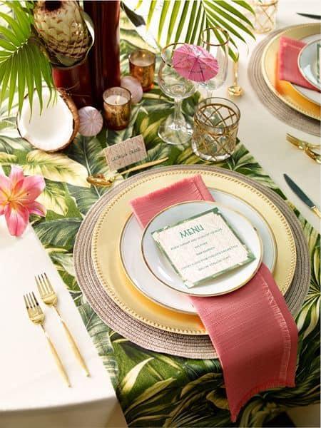 Inspiration une tropical party save the deco - Set de table deco ...