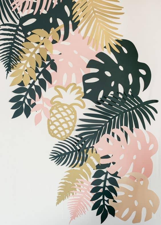 feuilles découpés tropical