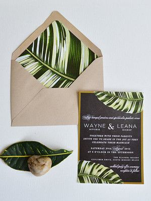 invitation theme tropical