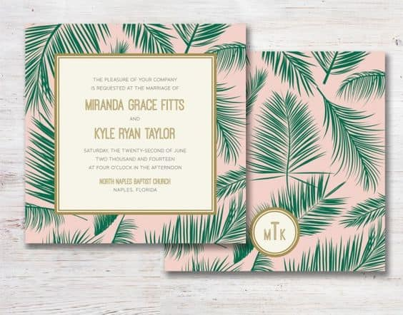Parts Of Wedding Invitation: Inspiration : Une Tropical Party