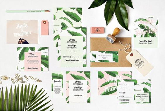 invitations tropical theme