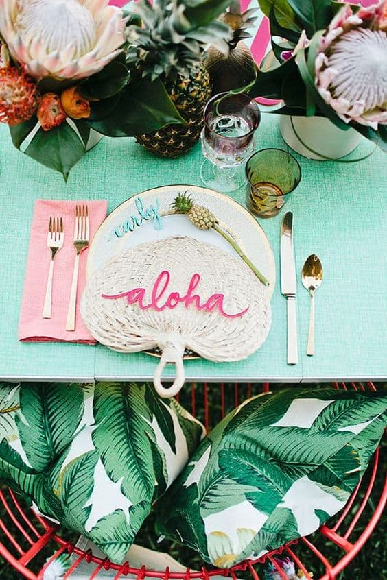 tropical deco de table