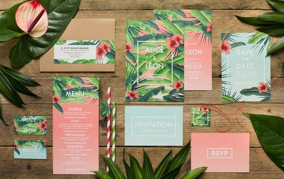 tropical party papiers
