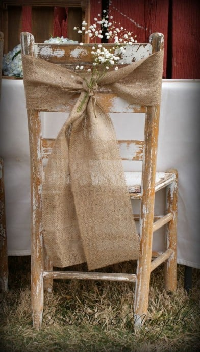 Deco Chaise Repas Mariage Noeud