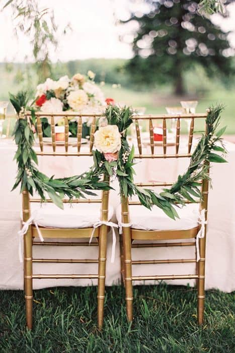 Deco Chaises Mariage Feuilles