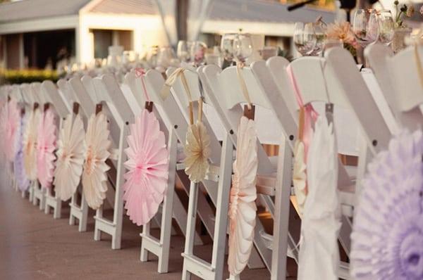 Deco Chaises Mariage Rosaces
