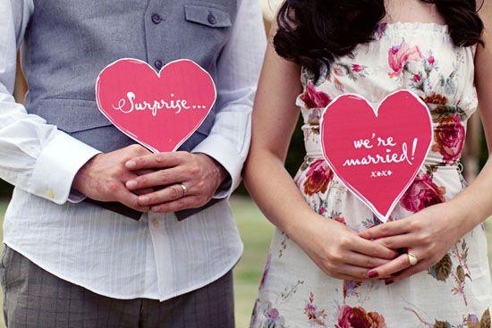 Surprendre ses invités avec un mariage surprise!