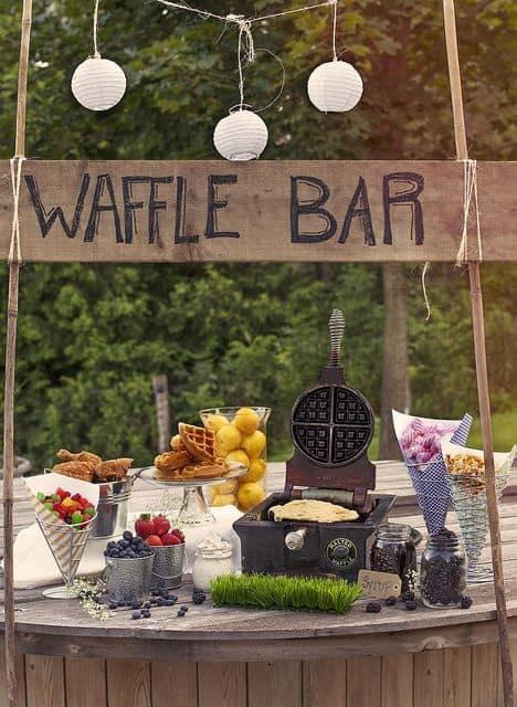 Un bar à gaufres pour vos fêtes et mariages!