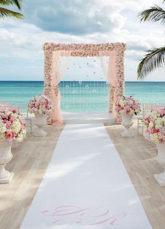 decoration mariage a la plage