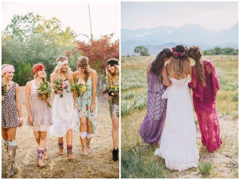 Que porter à un mariage bohème?