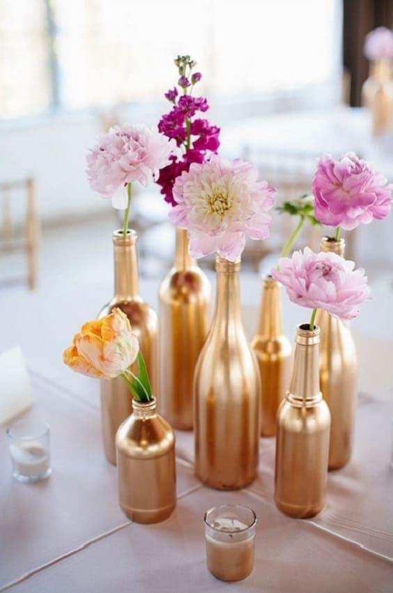 bouteilles dorées 564