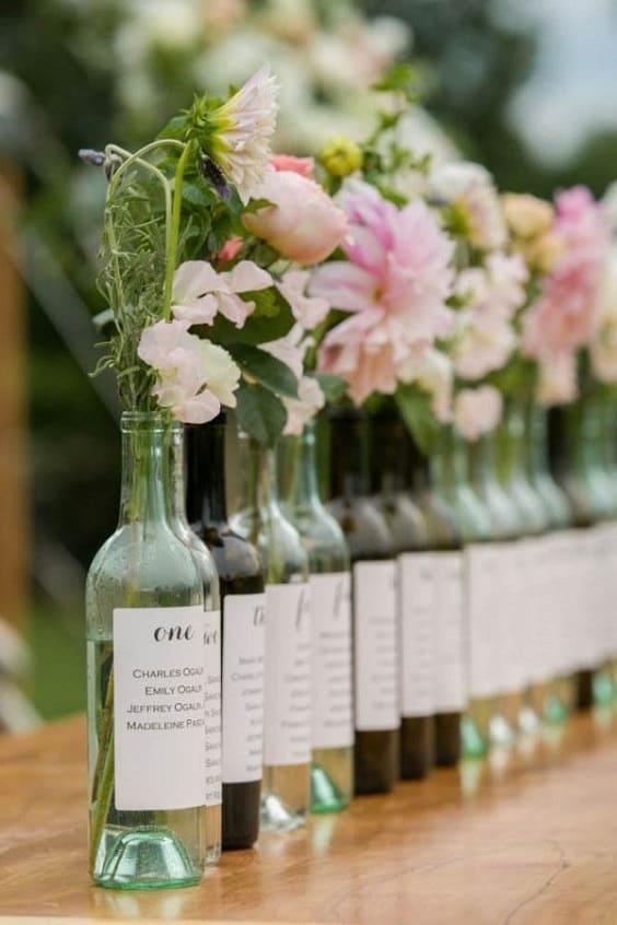 bouteille fleurs 564
