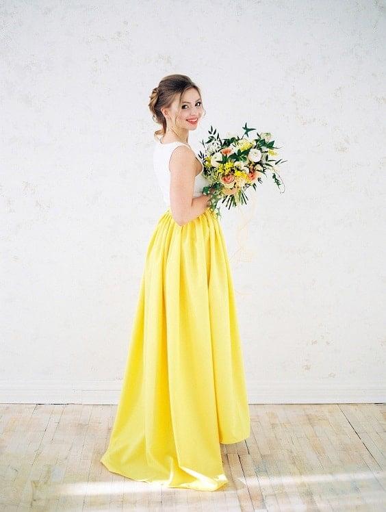 robe mariage jaune