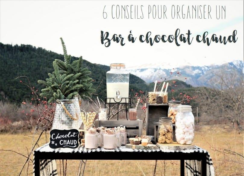 6 conseils pour organiser un bar à chocolat chaud
