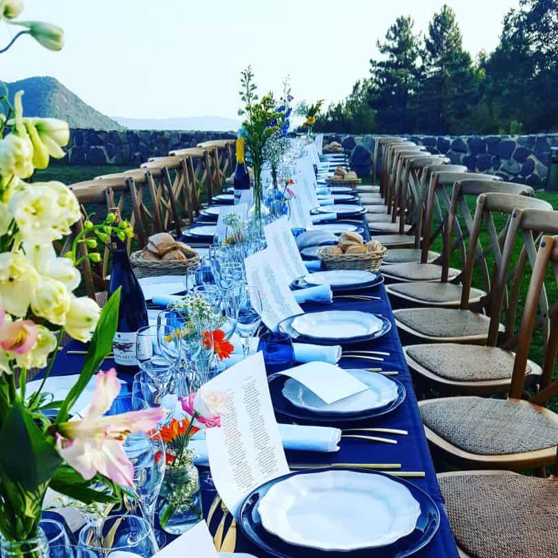 BLEU pour un Wedding champêtre et tendance !