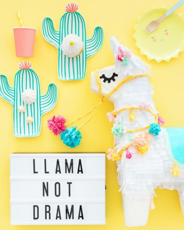 Inspiration : Mon anniversaire sur le thème Lama !