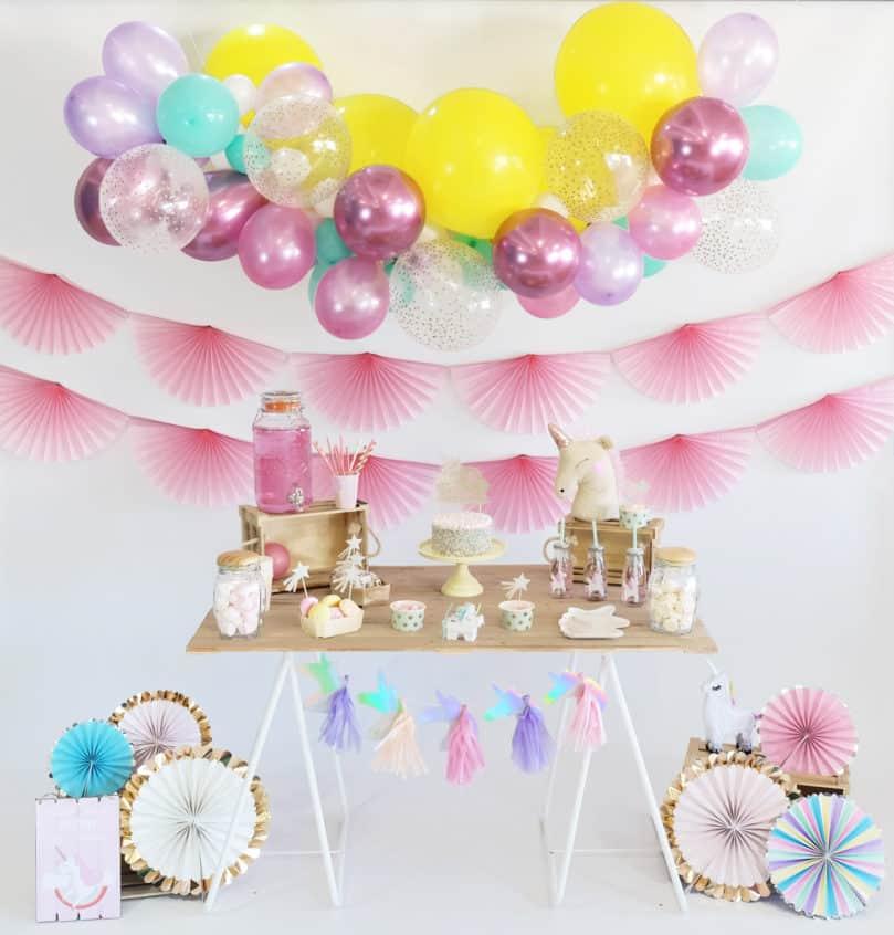 Mon anniversaire sur le thème «Licorne» !