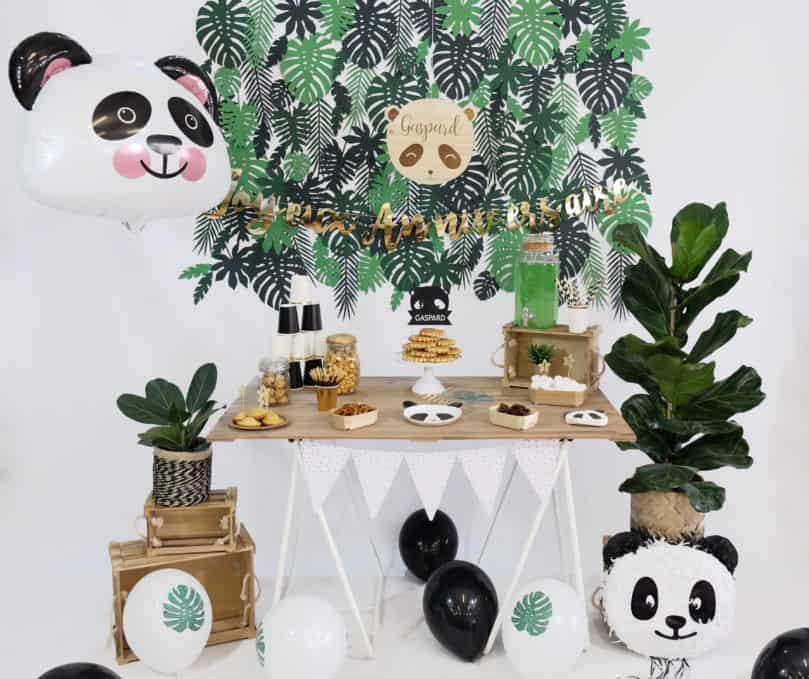 Mon anniversaire sur le thème «Petit panda»