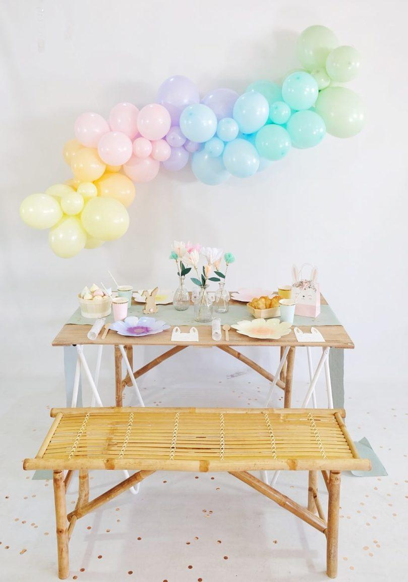 Comment réaliser une table printanière à la décoration pastel?