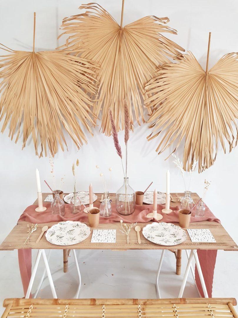 Ma décoration de table thème pampa et terracotta